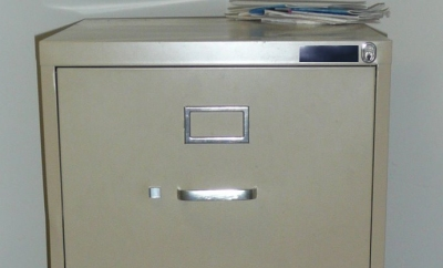 Zap Absorber fitted to a filing cabinet